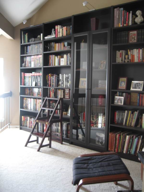Billy Bookcase Half Doors :  bookcases billy bookcases from ikea it s 4 full width bookcases 1 half